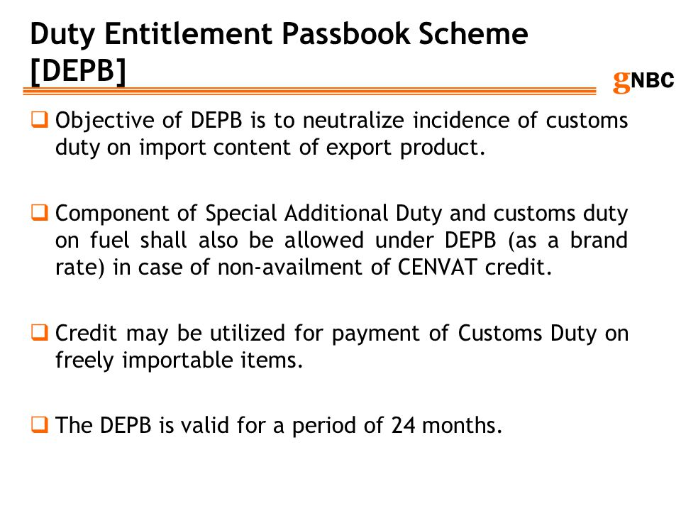 Duty Entitlement Passbook Scheme [DEPB]